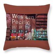 Western Pacific Throw Pillow