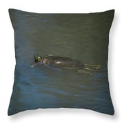 Western Painted Turtle Throw Pillow