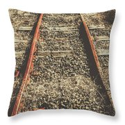 Western Railway Of Routes Forgotten Throw Pillow