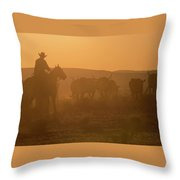 Western Roundup Number 1 Throw Pillow