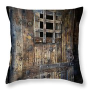 Western Rustic Door Throw Pillow
