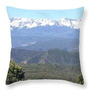 Western Slope Mountains Throw Pillow