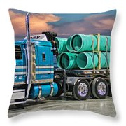 Western Star Ipex Truck Throw Pillow