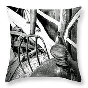 Western Stuff Throw Pillow by Al Bourassa