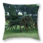 Western Wagon Throw Pillow