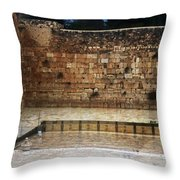 Empty Western Wall Throw Pillow