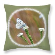 Western White Butterfly Throw Pillow