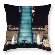 Westinghouse Pavilion At Night Throw Pillow
