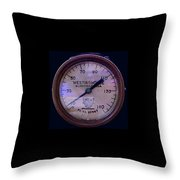 Westinghouse Steam Gauge Throw Pillow