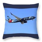 Westjet Disney Magic B-737-800 Throw Pillow
