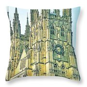 Westminster Abbey Postcard Throw Pillow