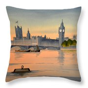 Westminster And Big Ben  Throw Pillow
