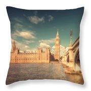 Westminster Big Ben Throw Pillow