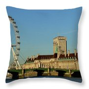 Westminster Bridge And London Eye Throw Pillow