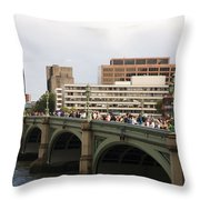 Westminster Bridge.  Throw Pillow
