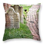 Westminster Burying Ground Throw Pillow