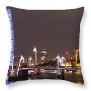 Westminster From Waterloo Bridge London Throw Pillow