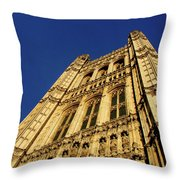 Westminster Palace, London Throw Pillow
