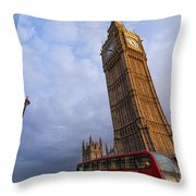 Westminster Station Throw Pillow