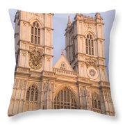 Westmintser Abbey Throw Pillow