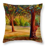 Westmount Park Montreal Throw Pillow