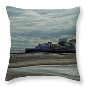 Weston - Super -mare  -  Outflow - Hdr Throw Pillow