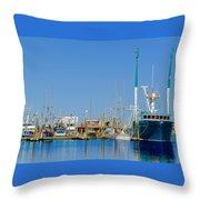Westport Docks Color Throw Pillow