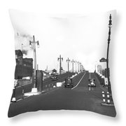 Westside Express Highway In Ny Throw Pillow