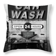 Westside Highway Car Wash Nyc Throw Pillow