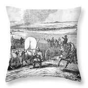 Westward Expansion, 1858 Throw Pillow by Granger