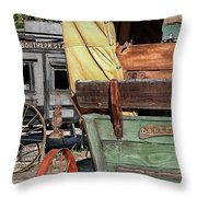 Westward Wagons Throw Pillow