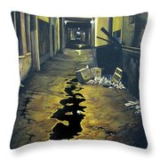 Wet Alley Throw Pillow