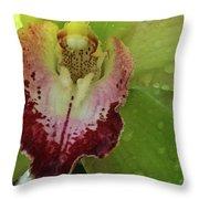 Wet Bloom Throw Pillow