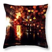 Wet City 3 Throw Pillow