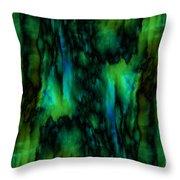 Wet Colors Throw Pillow