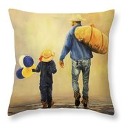 Wet Day At The County Fair Throw Pillow