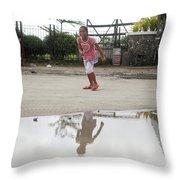 Wet Dry Wet Dry Throw Pillow