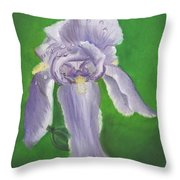 Wet Iris Throw Pillow