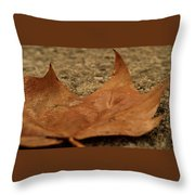 Wet Leaf Throw Pillow
