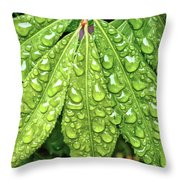 Wet Leaves Throw Pillow