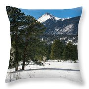 Wet Mountain Valley In Winter Throw Pillow