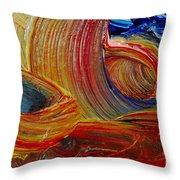 Wet Paint - Run Colors Throw Pillow