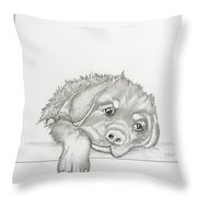 Wet Rottie Pup Throw Pillow