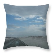 Wet Sand On Pensacola Beach Road Throw Pillow
