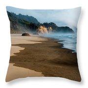 Wet Sand Throw Pillow