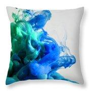 Wet Smoke  Throw Pillow