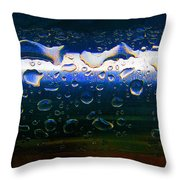 Wet Steel Blue Throw Pillow