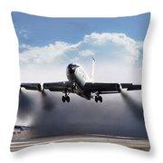 Wet Takeoff Kc-135 Throw Pillow