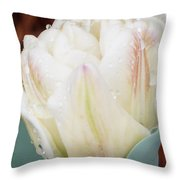 Wet Tulip Throw Pillow