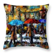 Wet Winter Day Throw Pillow